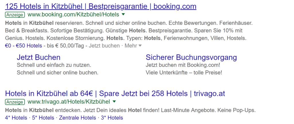 Textanzeigen Google Ads